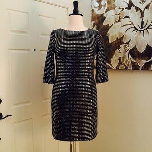Jessica Howard Sparkly Black & Silver Dress
